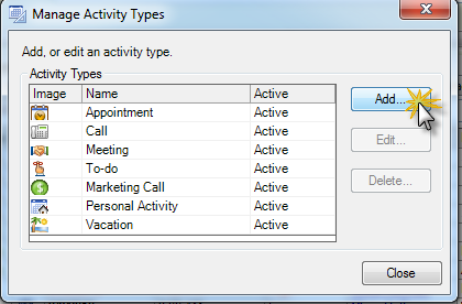 Add a Custom Activity Type